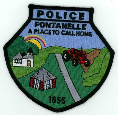 IOWA IA FONTANELLE POLICE NEW SHOULDER PATCH SHERIFF