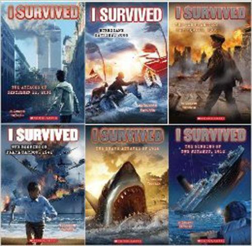 I Survived Set 10 Books Scholastic 9/11 Fire Katrina Nazi Earthquake Titanic
