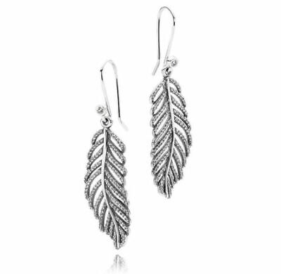 NEW/TAGS AUTHENTIC PANDORA EARRINGS LIGHT AS A FEATHER #290680CZ RETIRED