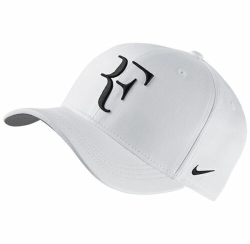 New Authentic Nike RF Dri-Fit Roger Federer Aerobill Heritage White Cap Hat!