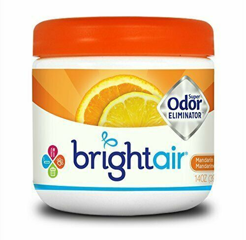 Bright Air Solid Freshener and Odor Eliminator, Mandarin Orange 1 Pack
