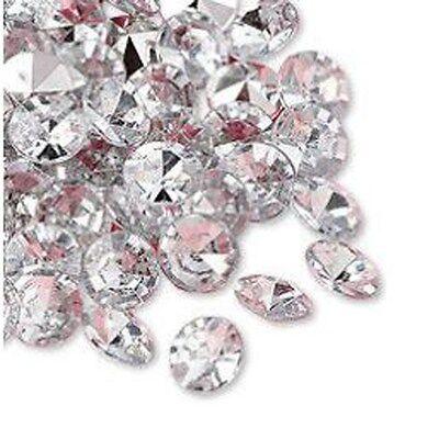 Premium Boda Decoración De Mesas 12mm Plata Diamantes