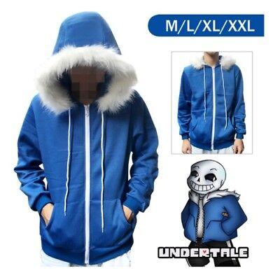 Undertale Sans Hoodie Hooded Jacket Cosplay Winter Coat Sweater Costume Unisex