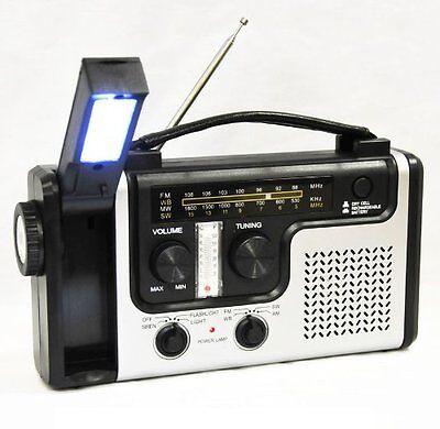 Topalert Emergency Solar Hand Crank Dynamo Am Fm Noaa Weather Radio  Flashlight