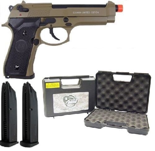 SRC Sahara Gas Blowback Full Metal Airsoft Gun With Case and Extra Magazine