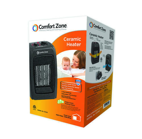 Comfort Zone CZ442 1500 Watt Ceramic Space Heater Portable P