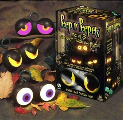 Flash Halloween Animation (NEW 3  PEEP n' PEEPERS ANIMATED FLASHING LIGHTED EYES HALLOWEEN DECOR PROP)