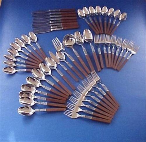 Wood handle flatware ebay - Flatware with wooden handles ...