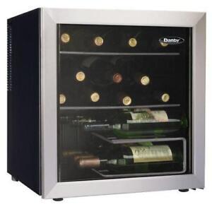 New Danby 17 Bottle Wine Cooler, Black, Platinum