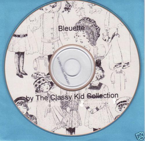 French Doll Dress Patterns  For Bleuette Size + Bonus on CD