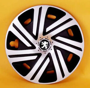 peugeot 107 206 306 309 partner 14 wheel trims covers hub caps quantity 4 ebay. Black Bedroom Furniture Sets. Home Design Ideas