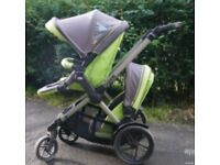Jane twone double buggy / pushchair: Chassis + 2 seats – can add carrycot