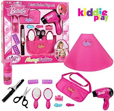 Kiddie Play Pretend Play Girls Beauty Salon Fashion Toy Set Including Hair Dryer