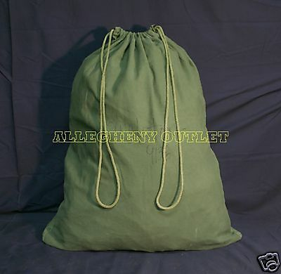 US Army Military Barracks Bag, Cotton Large Laundry Duffle Tote Storage Bag GOOD