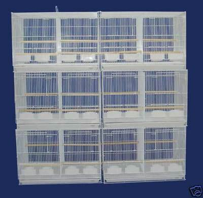Lot of 6 Breeding Aviary Bird Breeder Cages 24x16x16 With Divider-#401 269