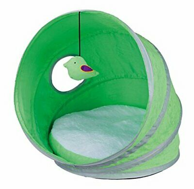 Cat Igloo Play Cuddly Cave Green with dangling toy Neva Kitten bed igloo