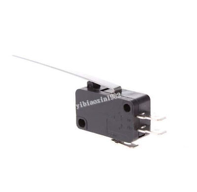 1pcs Spdtkw8-series 3terminal Long Straight Hinge Lever Momentary Micro Switch