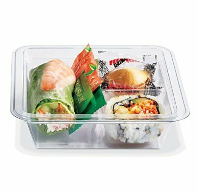 Gocubes 12 Oz Pet Container With 3-comp Clear Insert And Clear Lid 50 Sets