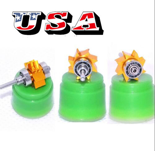 Dental Golden Turbine Cartridge Ceramic Large Head Open Push handpiece Denshine