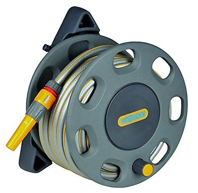 Hozelock wall mounted compact reel with 15m hose ideal for smaller garden