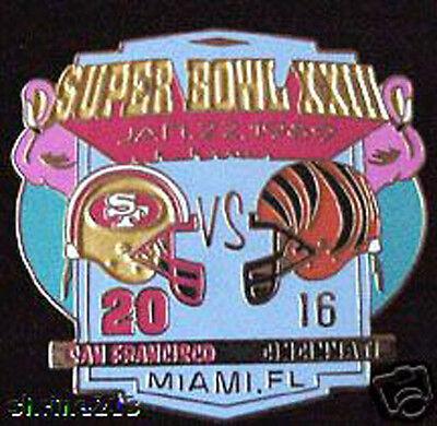 Super Bowl 23 Final Score Pin San Francisco 49Ers Vs Cincinnati Bengals