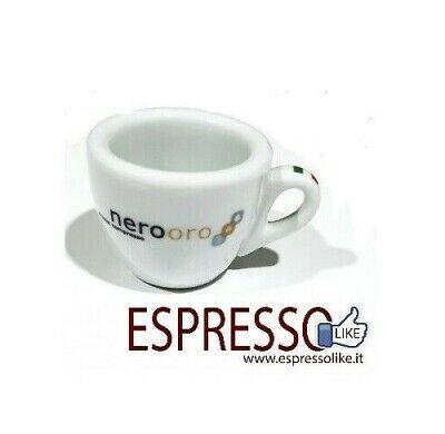 Set da 6 pezzi Tazzine in Ceramica da Caffè logate NEROORO con Piattino Tazze