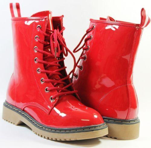 Womens Red Mid Calf Boots Ebay