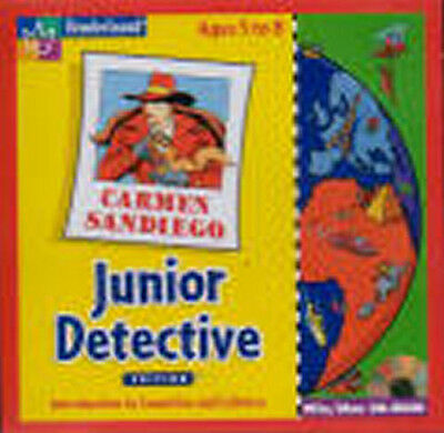 Carmen Sandiego JUNIOR DETECTIVE Jr Kids Educational for Windows PC & Mac NEW CD