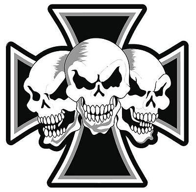 Autoaufkleber Sticker Eisernes Kreuz Totenköpfe NEU Aufkleber