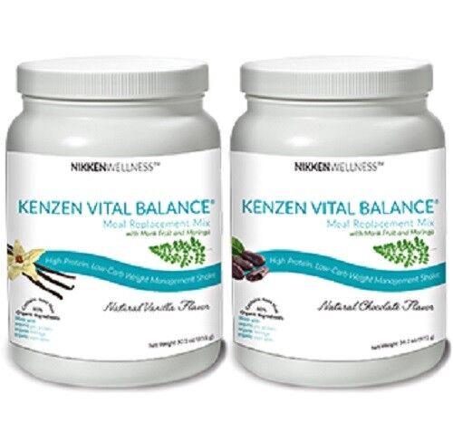 Nikken Kenzen Vital Balance Organic Protein Shake Weight Los