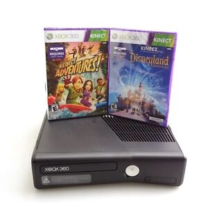 Microsoft Xbox 360 Slim 4GB with Kinect Sensor and Two Video Games (Refurbished)