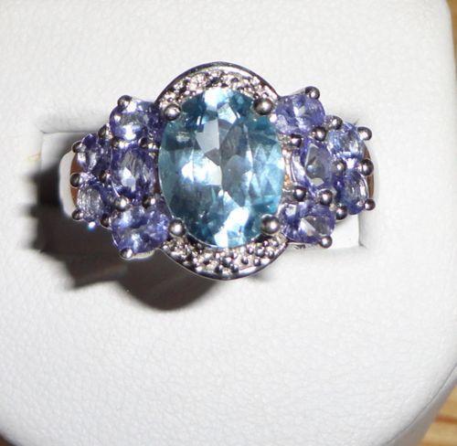 Large Blue Topaz Ring Ebay