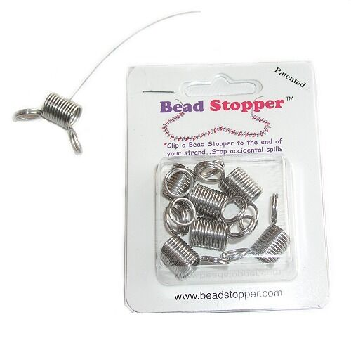 BEAD STOPPERS Holds Beads in Place Beading Tools Stringing Craft DIY Jewelry Kit