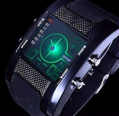 Excellanc Digitaluhr Herren Uhr Armbanduhr Ziffern Beleuchtung 2 Werke Schwarz B