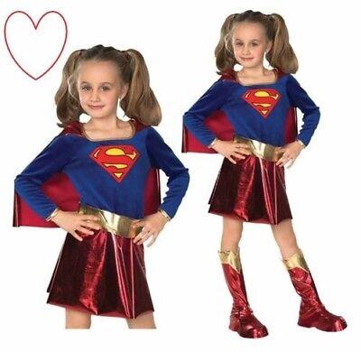 Supergirl Kinderkostüme Mädchen Deluxe Superheld Outfit Party Büchertag - Deluxe Supergirl Kind Kostüm
