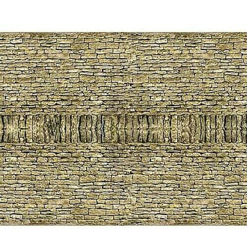 id Backscenes OO Gauge Dry Stone Walling Double - 10 pack of A4 Sheets # BM025