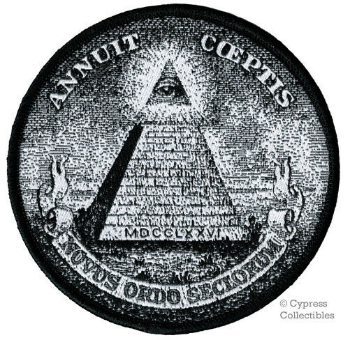 ANNUIT COEPTIS EMBROIDERED PATCH GREAT SEAL of UNITED STATES IRON-ON PYRAMID EYE