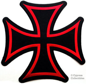 IRON CROSS PATCH - Embroidered Maltese Gothic LARGE 10