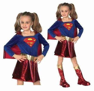 Mädchen Supergirl Kostüm Deluxe Kostüm Outfit Superheld Büchertag - Helden Kostüme Weiblich