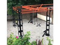 FREE STANDING FUNCTIONAL, SUSPENSION, TRX FITNESS TRAINING MULTI STATION RIG/FRAME