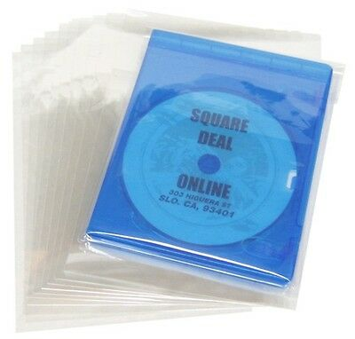 (100) BRSB02RS Blu-Ray HD DVD 12mm Cases Boxes Resealable Sleeves Bags Covers