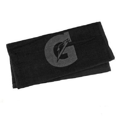 GATORADE Sports Towel BLACK Golf Baseball Basketball Football Gym Tone On Tone  - Football Towel