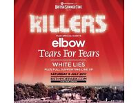 The Killers Tickets - Hyde Park - Saturday 8th July 2017