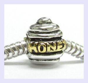 925-STR-Silver-14K-Gold-Petite-HONEY-BEE-POT-Bead-for-European-Charm-Bracelet