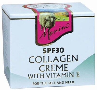 NEW ZEALAND Merino Collagen Creme SPF30 with Vitamin E 100g FREE SHIPPING