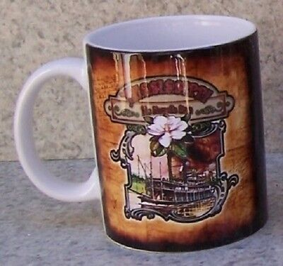 Coffee Mug Explore America Mississippi Riverboat NEW 11 ounce cup with gift box