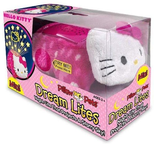 Hello Kitty MINI Pillow Pets Dream Lites w/ Hanging Clip – New Without Batt Other Stuffed Animals