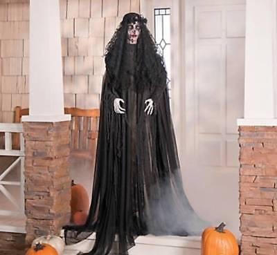Halloween Party Haunted House Decor Mourning Glory w/ Flashing Red Eyes