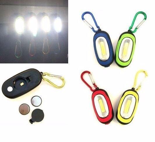 Magnetic COB LED Carabiner Mini Flashlight ~ 4 Pack ~ New
