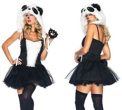 NEW Sexy Playful Panda Petticoat Dress and Hoodie - Womens Panda Kostüme
